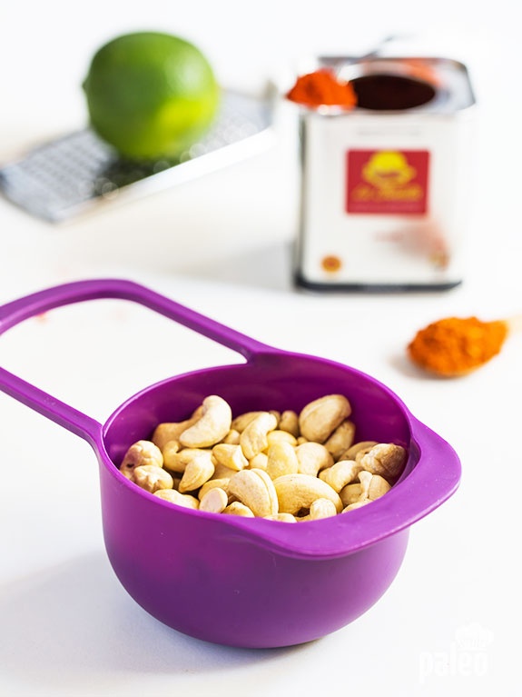 cashews and spices