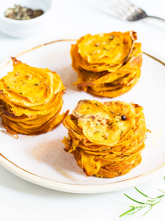 Always looking for new ways to make sweet potatoes – and these sweet potato stacks make my mouth water! They are so delicious and unlike anything I have ever had before.