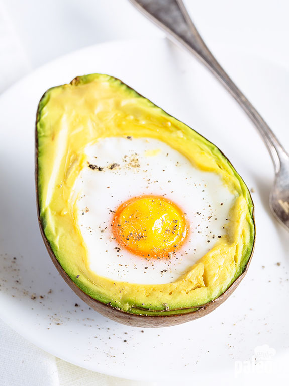 This is my favorite way to eat eggs! Simply bake them in an avocado for a meal or snack packed with protein and healthy fat.