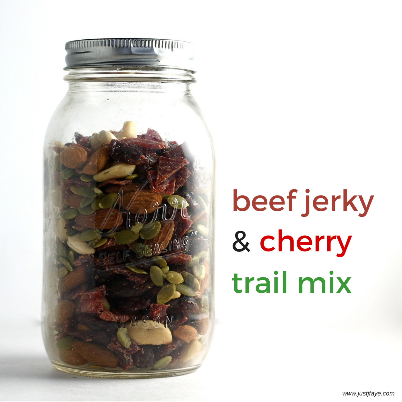 Beef Jerky and Cherry Trail mix