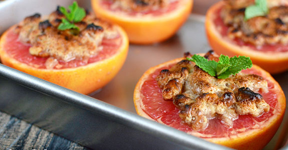 Broiled Grapefruit With Streusel
