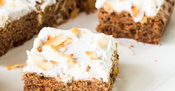 Carrot Cake With Whipped Coconut Frosting