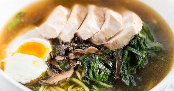 Chicken Zucchini Noodle Ramen