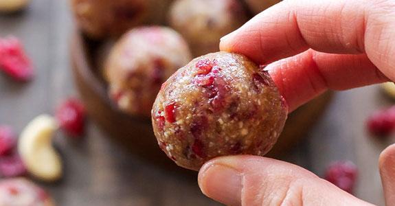 Cranberry Vanilla Energy Bites