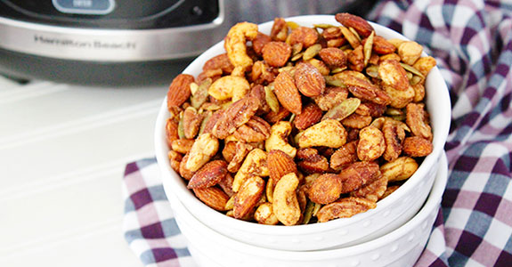 Crockpot Pumpkin Pie Spiced Nuts