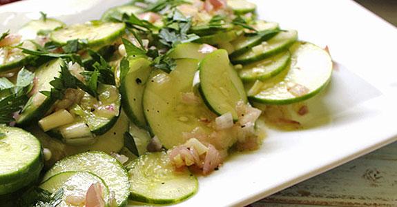 Cucumber Shallot Salad