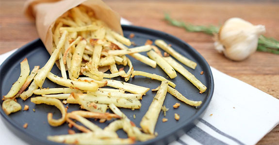 Garlic Rosemary Parsnip Fries