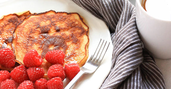 Grain Free Coconut Flour Pancakes