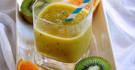 Homemade Electrolyte Orange Kiwi Citrus Slushy