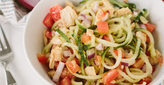 Israeli Cucumber Noodle Salad With Tuna