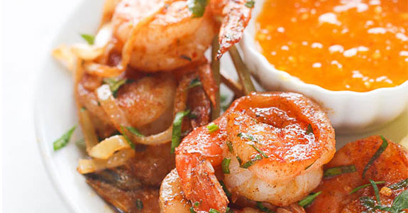 Jerk Shrimp With Butter Sauce