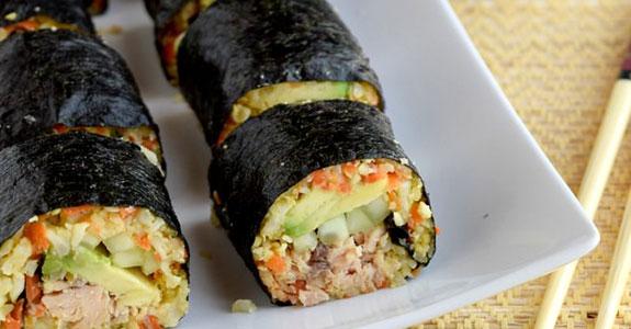 Maki Rolls With Cauliflower Rice