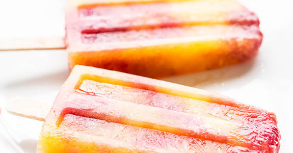 Mango Raspberry Bellini Popsicles