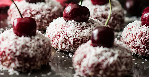 Paleo Cherry and Coconut Cakes