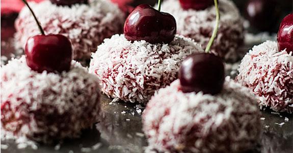 Paleo Cherry and Coconut Cakes