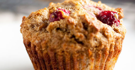 Paleo Pear and Cranberry Muffins
