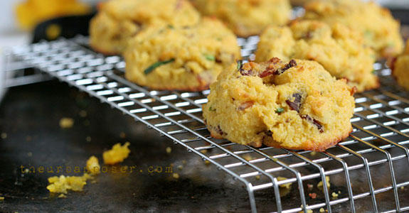 Paleo Pumpkin, Bacon, and Chive Biscuits