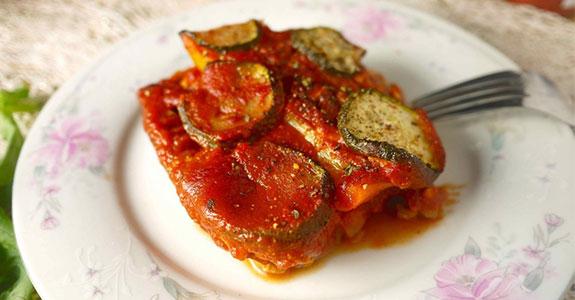 Smoky Paprika Ground Turkey, Bell Pepper, Zucchini Casserole