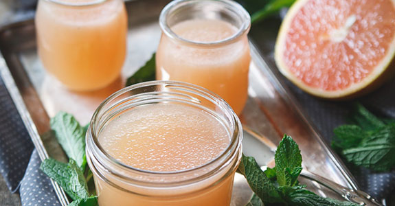 Sparkling Grapefruit Jello