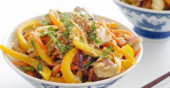 Thai Chicken With Spicy Peanut Sauce