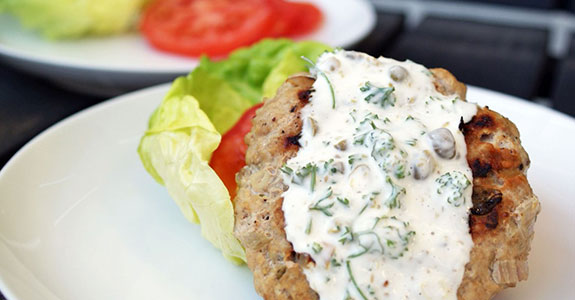 Turkey Burgers With Caper Aioli