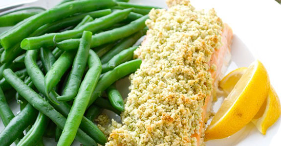 Whole30 Almond Crusted Salmon