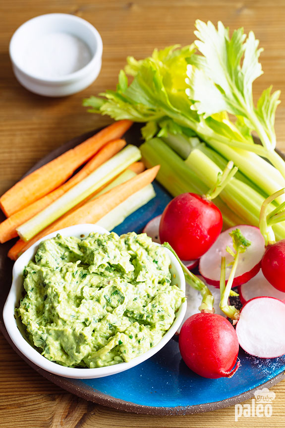 Green Goddess Dip is like a cousin of guacamole: similar – but not the same – ingredients give it a fresh and tasty zing!
