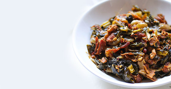 Bacon Loves Spicy Southern Greens
