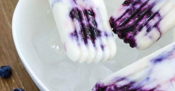 Bluberry Popsicles