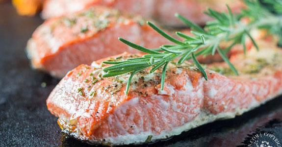 Broiled Rosemary Salmon