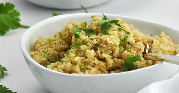 Cauliflower Couscous With Lime and Cilantro