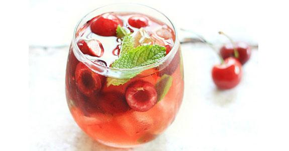 Cherry-Mint Sangria With Kirschwasser