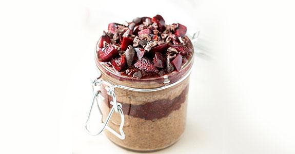 Chocolate Cherry Chia Pudding Parfaits