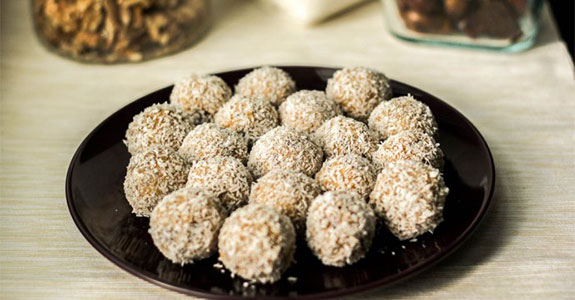 Date Balls Rolled in Coconut