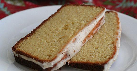 Eggnog Bread With Run Glaze