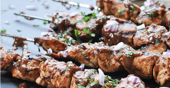 Grilled BBQ Chicken Nuggets
