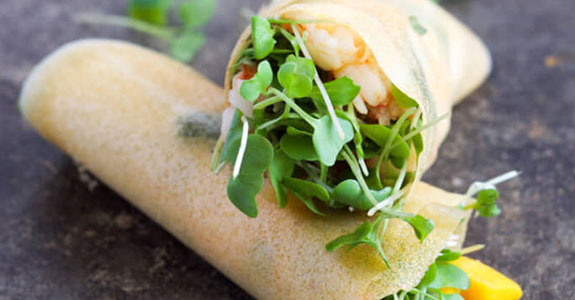 Paleo Shrimp and Mango Wraps