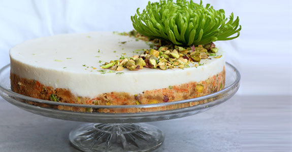 Raw Carrot Cake With Lime Coconut Frosting