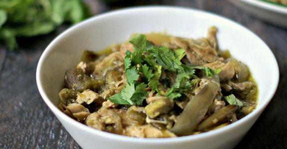 Slow Cooker Shredded Chicken Verde