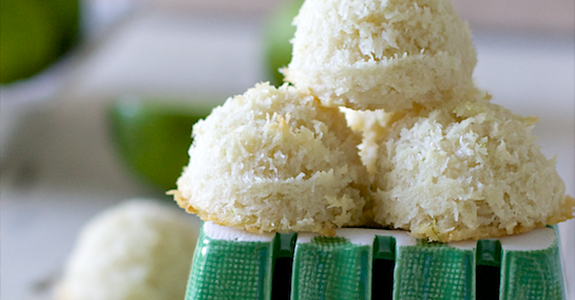 Tangy Lime Coconut Macaroons