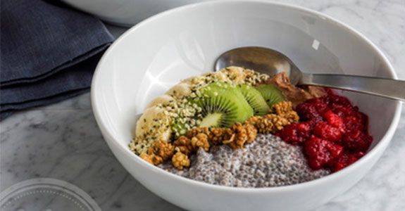 Winter Chia Pudding Breakfast Bowl