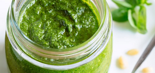 Any meal that goes well with a burst of fresh, garlicky goodness will be great for this basil and pine nuts pesto.