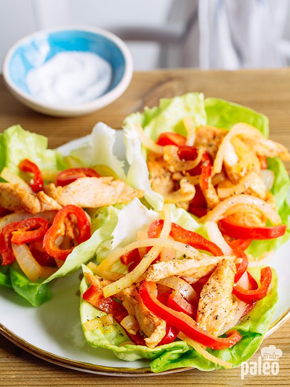 These are the best chicken fajitas! They are low carb, wholesome and spicy. Love it!