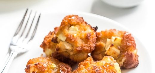 We've gone and done it: healthy oven-baked apple fritters you've got to try to believe. With such a rich taste you'd swear they're fried like the original.