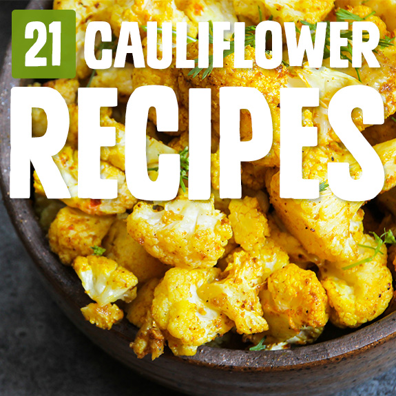 There's plenty you can do with cauliflower, and I was amazed at how well these cauliflower recipes turned out. Now I crave cauliflower!