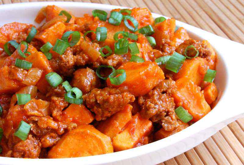 Chorizo with Sweet Potatoes