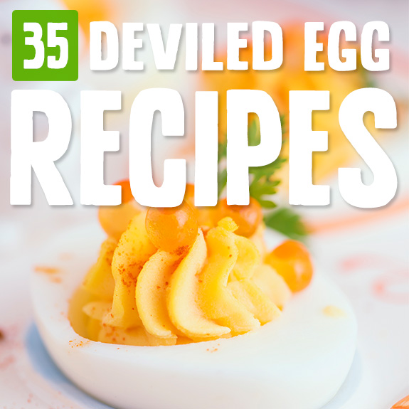 Deviled eggs are fun to make, and it was neat checking out all the ways you can doctor them up. My favorite are the buffalo ones, but there's something here for every taste.