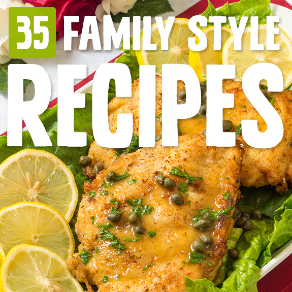 When the family is gathered I like to go family style with big plates and bowls of dishes to pass and share. These family style recipes keep it Paleo all the way.