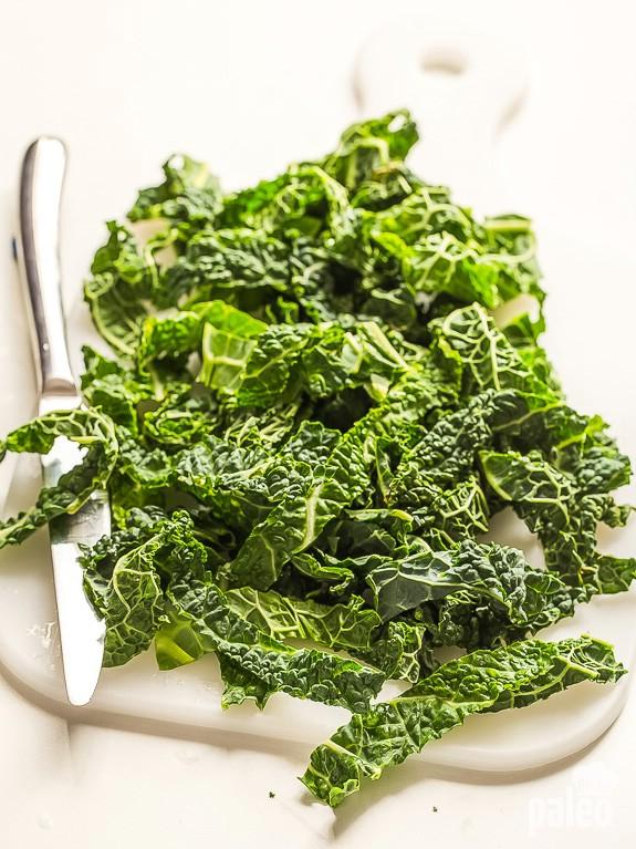 Garlic Kale Ingredients