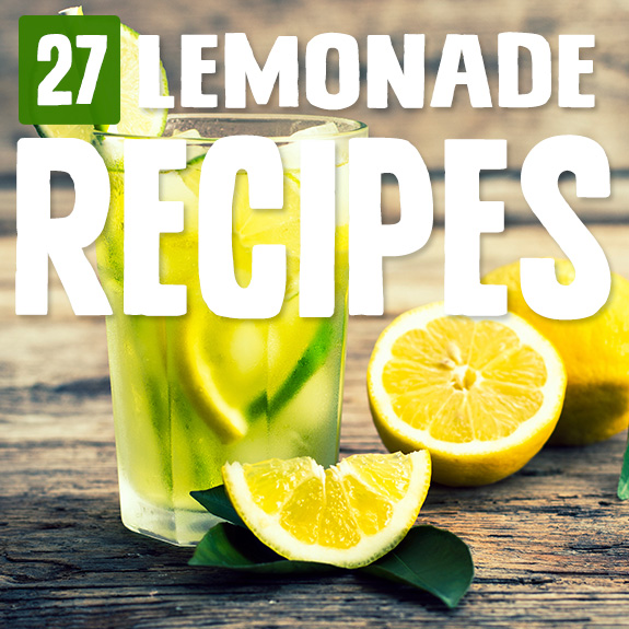 Here's a cure for the summertime heat, an ice-cold glass of lemonade done 27 different ways with these lemonade recipes. I'm in heaven!